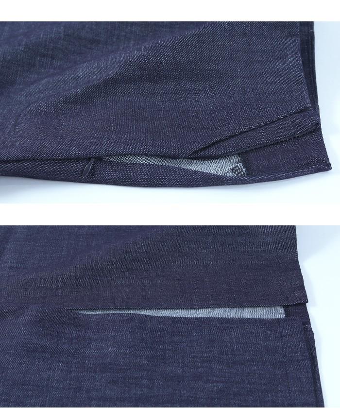 フロントスリットデニムタイトスカート15
