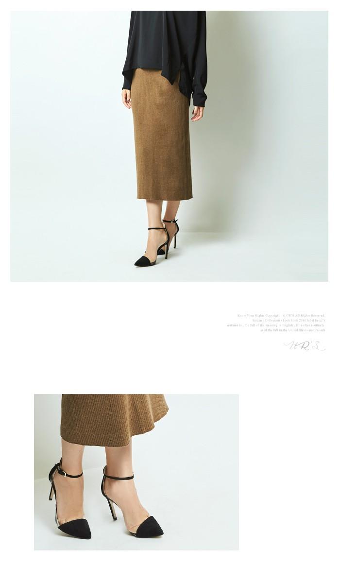 リブIラインミディスカート9