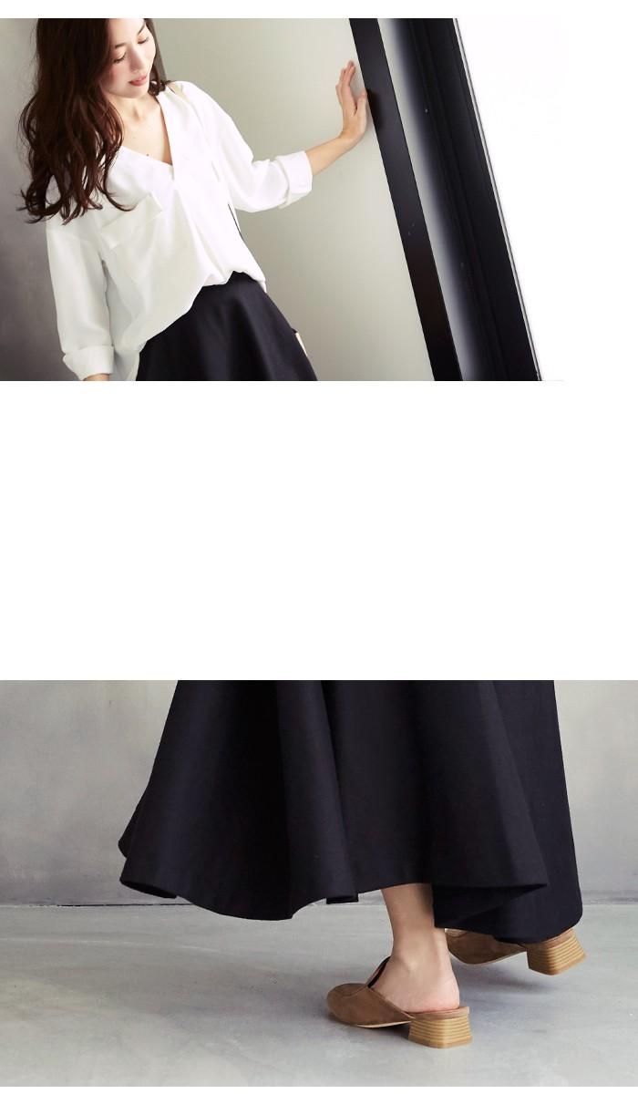 マキシ丈フレアサーキュラースカート5