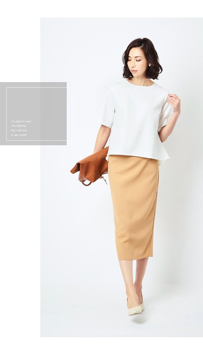 ミディアム丈タイトスカート9