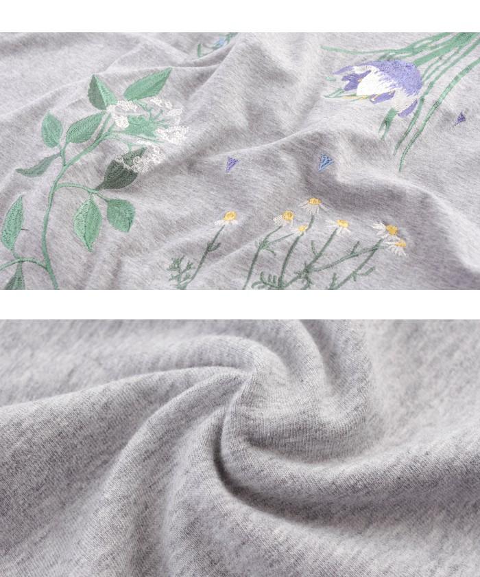 ボタニカル刺繍ボリュームスリーブブラウス16