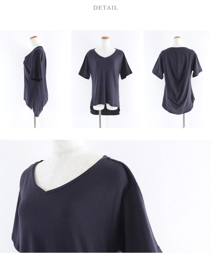 スカーフ付ドレープヘムTシャツ14