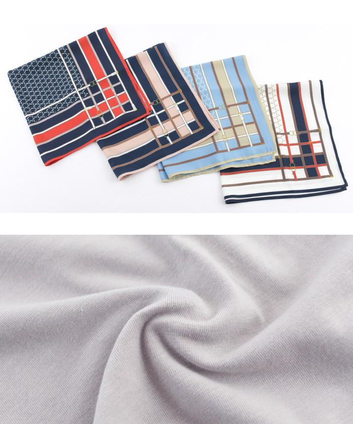 スカーフ付ドレープヘムTシャツ16
