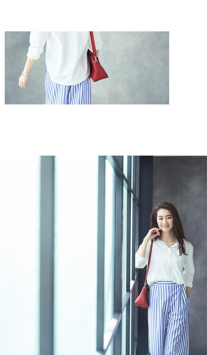 無地&ストライプシャツ11