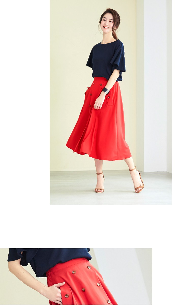 トレンチ風フレアスカート6