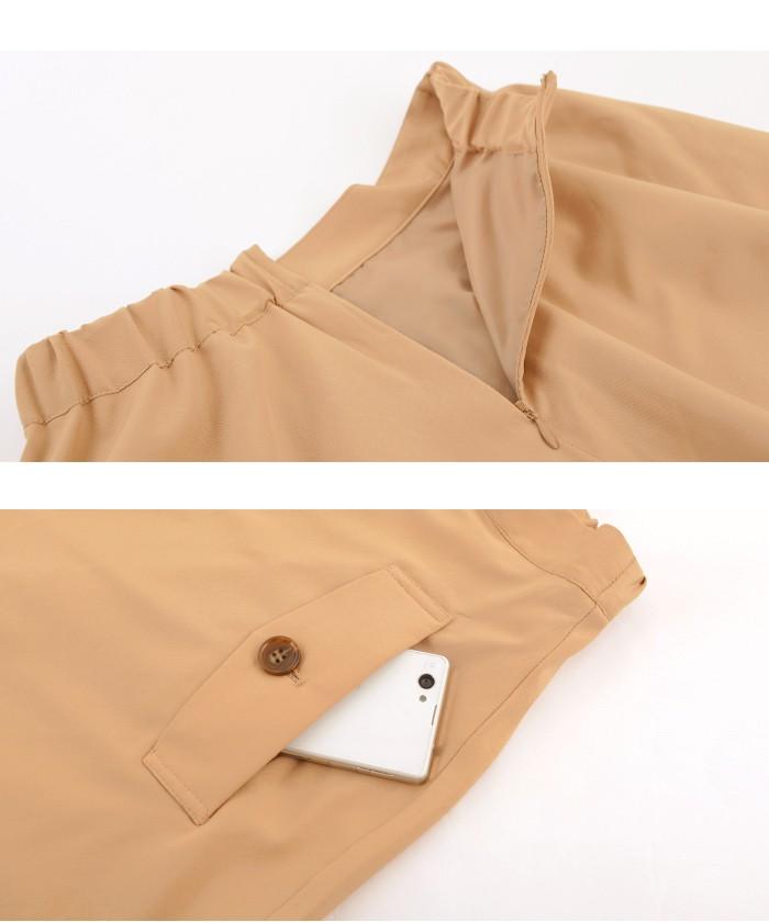 トレンチ風フレアスカート15