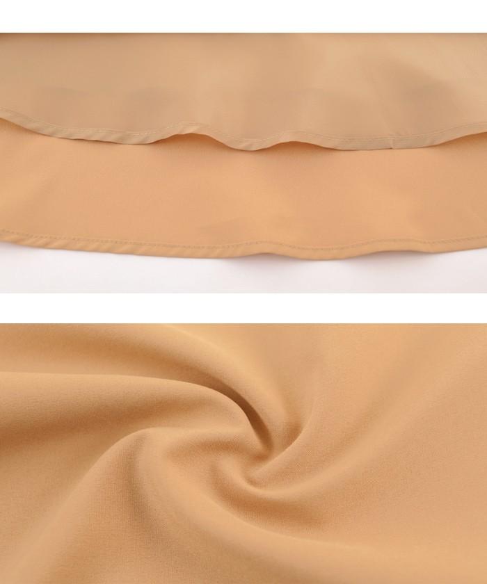 トレンチ風フレアスカート16