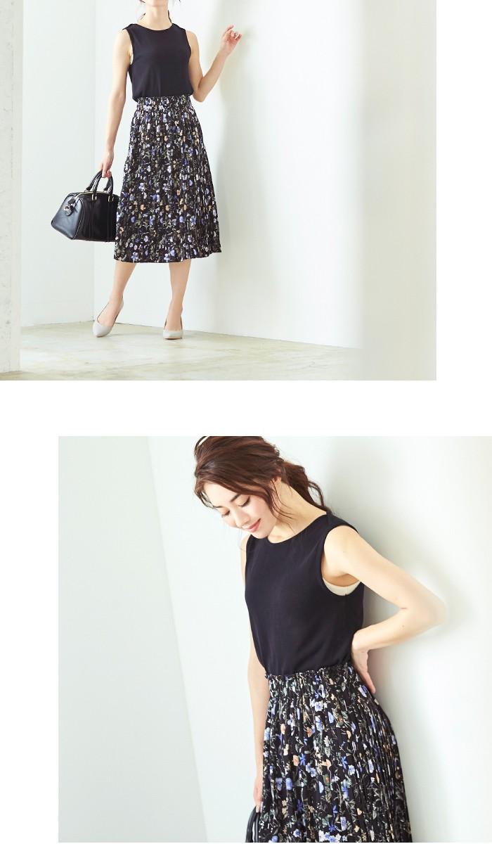 花柄プリーツスカート9