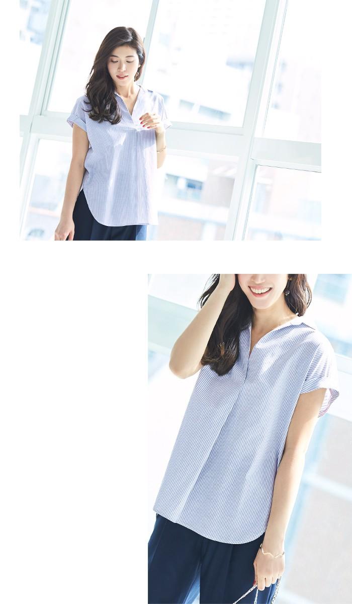 バックデザインストライプシャツ3