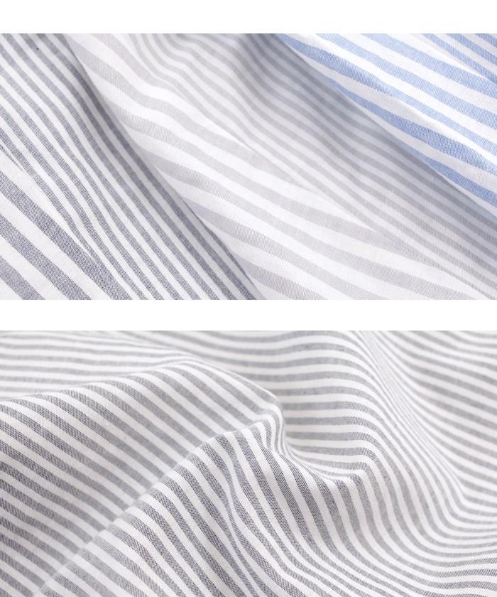 バックデザインストライプシャツ16