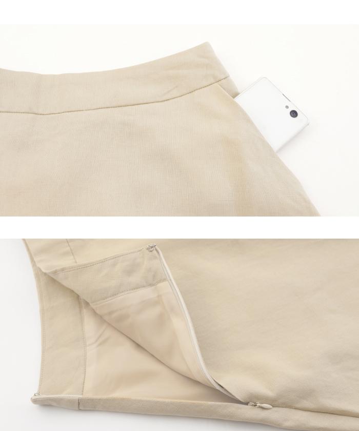 リネントップス×スカートセットアップ15