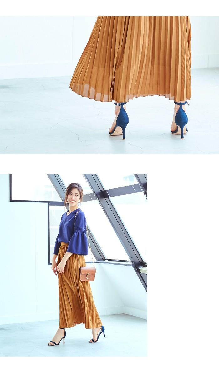 プリーツロングスカート5