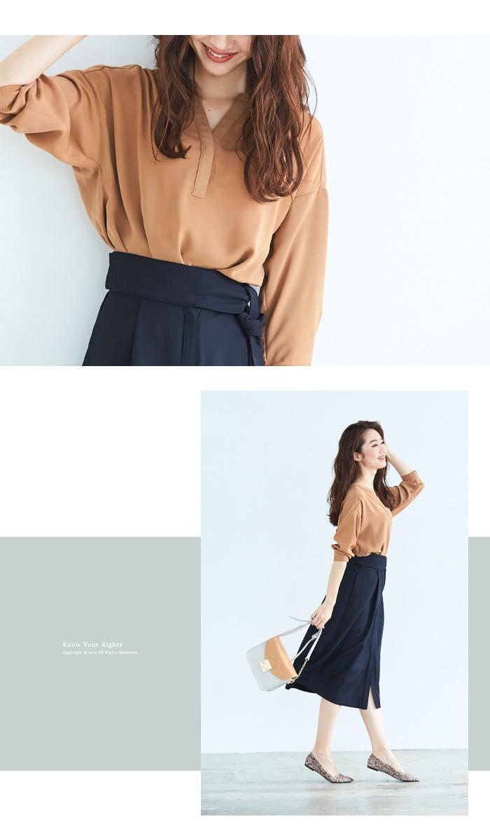 ウエストリボンAラインスカート2