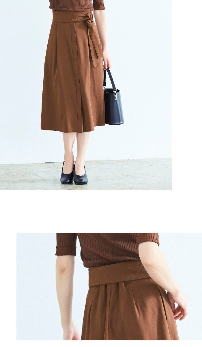 ウエストリボンAラインスカート7