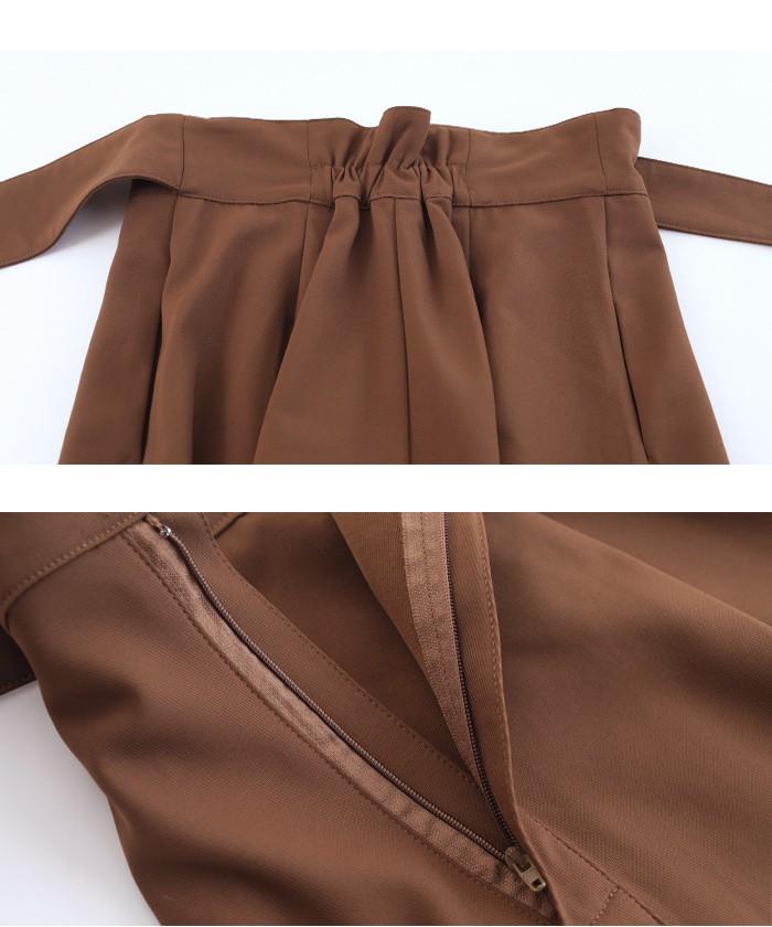 ウエストリボンAラインスカート15