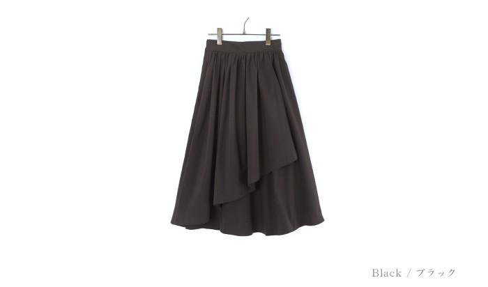 アシンメトリーギャザースカート13