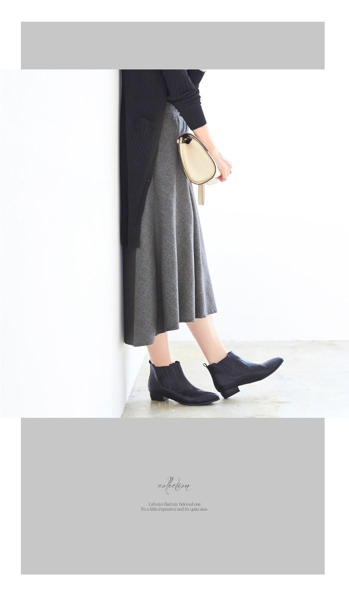 チェック柄ヘムラインフレアスカート11