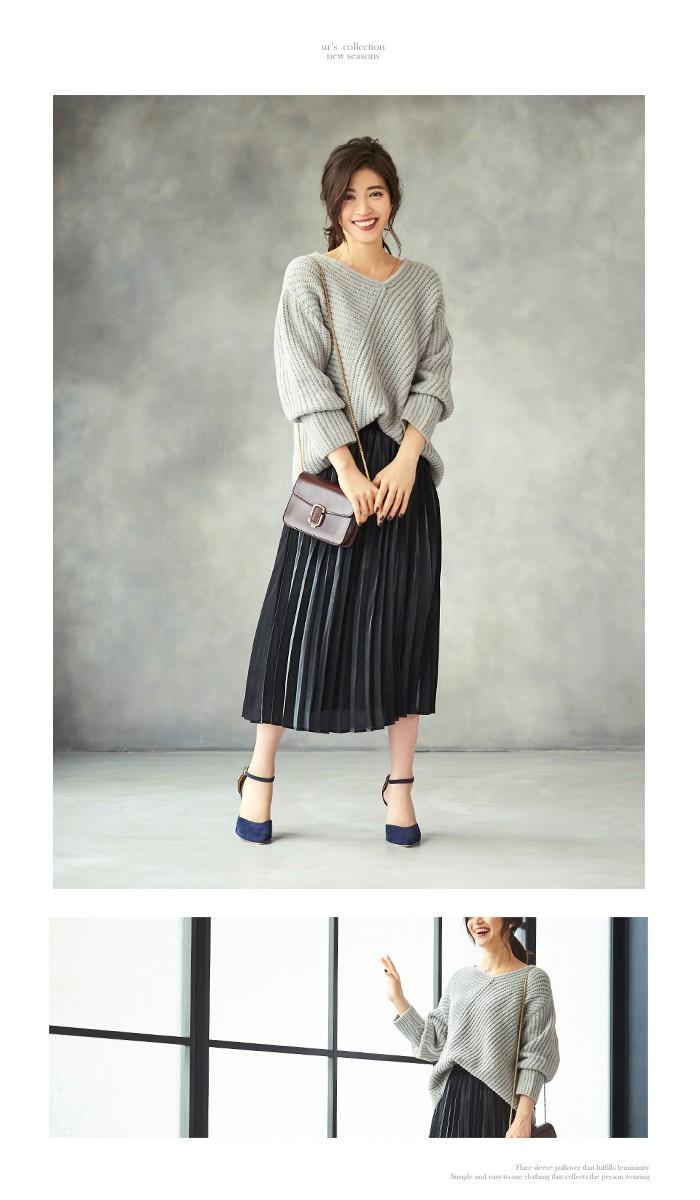フィラメントサテンミディアムプリーツスカート11