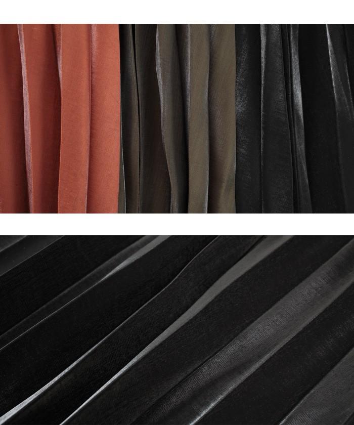 フィラメントサテンミディアムプリーツスカート16
