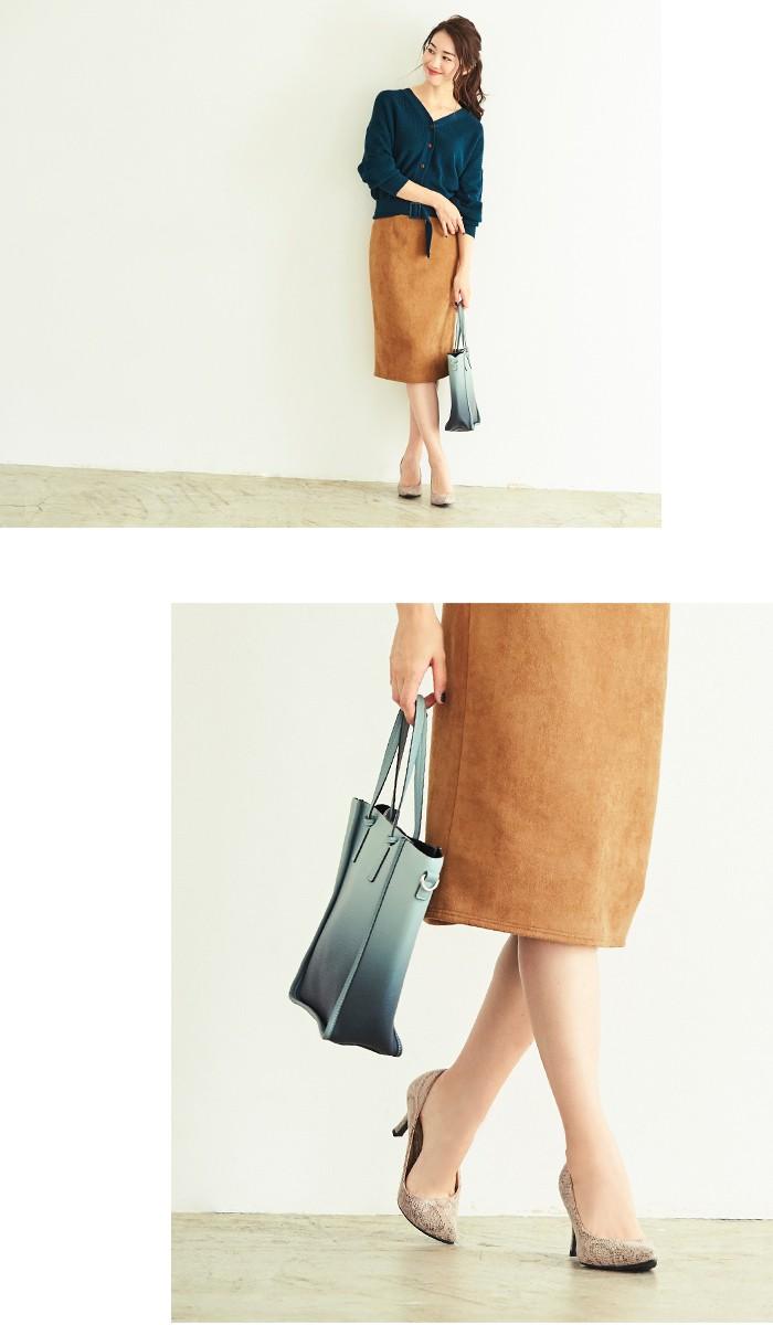 フェイクスウェードタイトスカート3