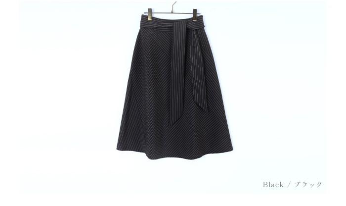 ピンストライプ切替スカート13