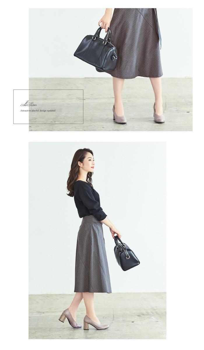 ピンストライプ切替スカート2