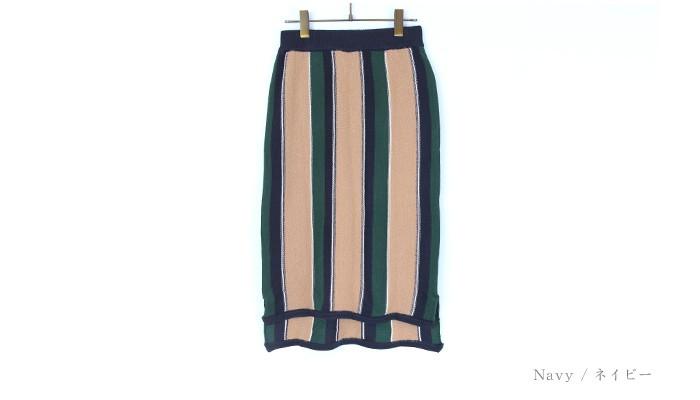 マルチストライプタイトスカート13