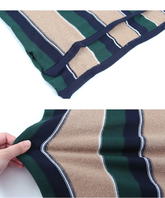 マルチストライプタイトスカート15