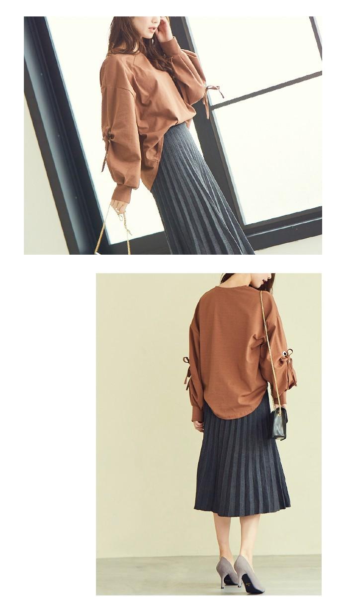 プリーツニットスカート3
