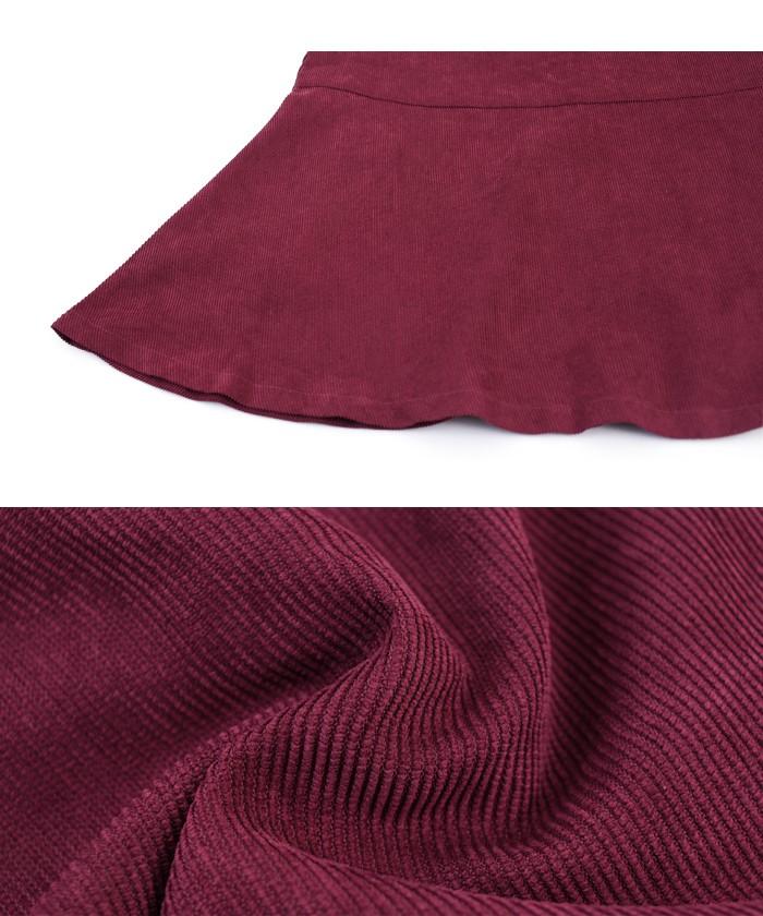 ベルト付裾フレアコーデュロイスカート16