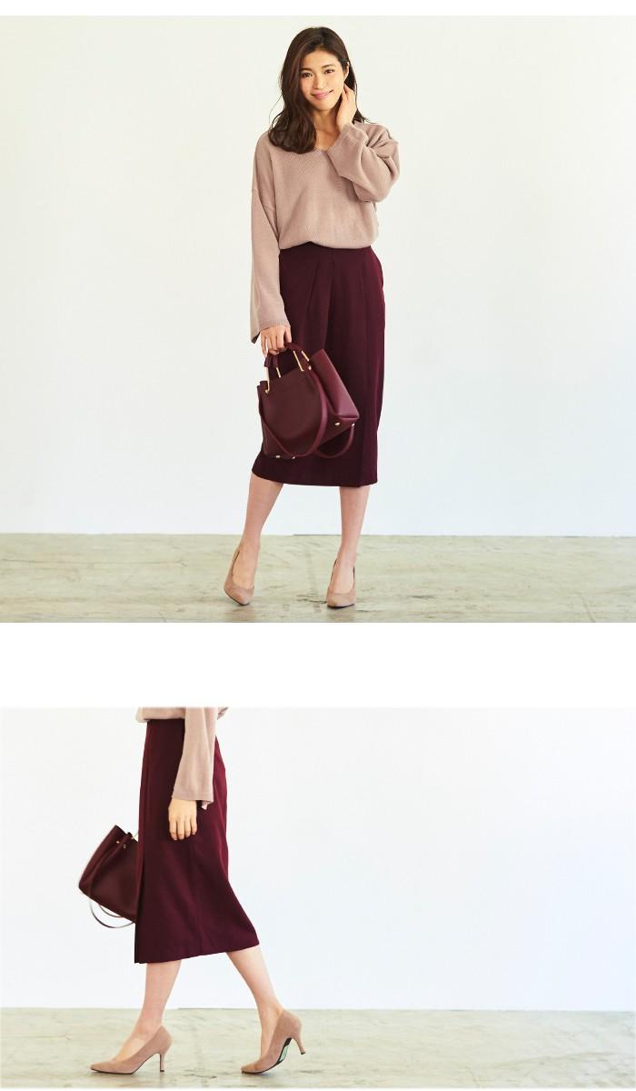 タックスリットミドルタイトスカート5