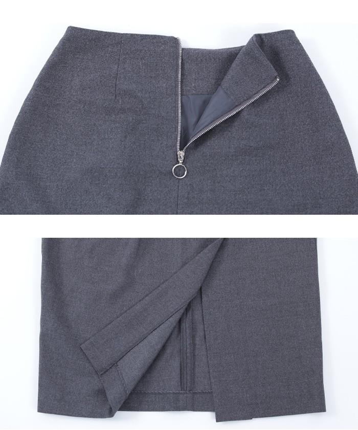 タックスリットミドルタイトスカート16