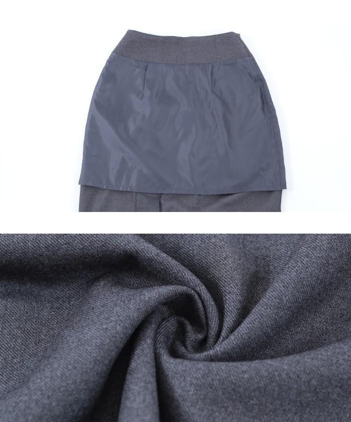 タックスリットミドルタイトスカート17