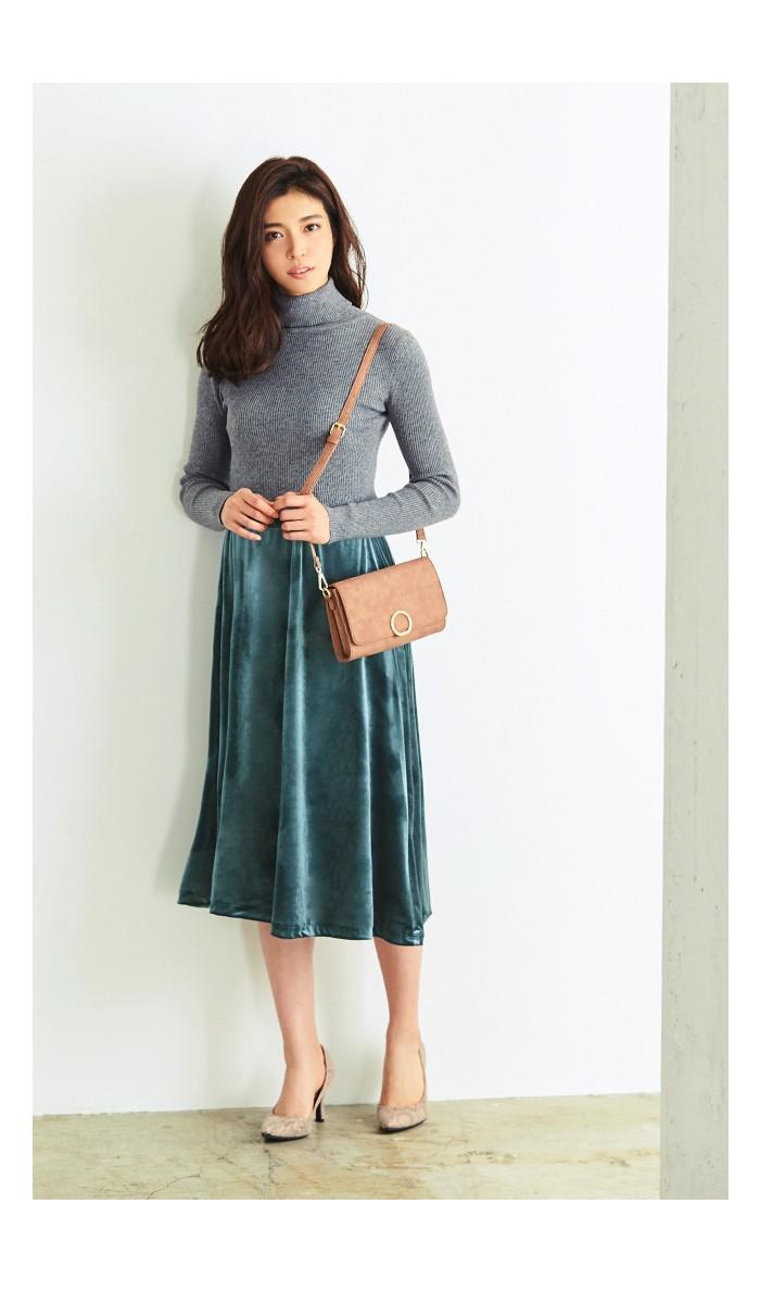 ベロアギャザースカート3