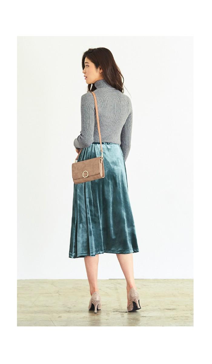 ベロアギャザースカート6
