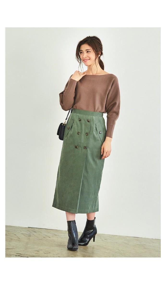 トレンチ風タイトスカート5