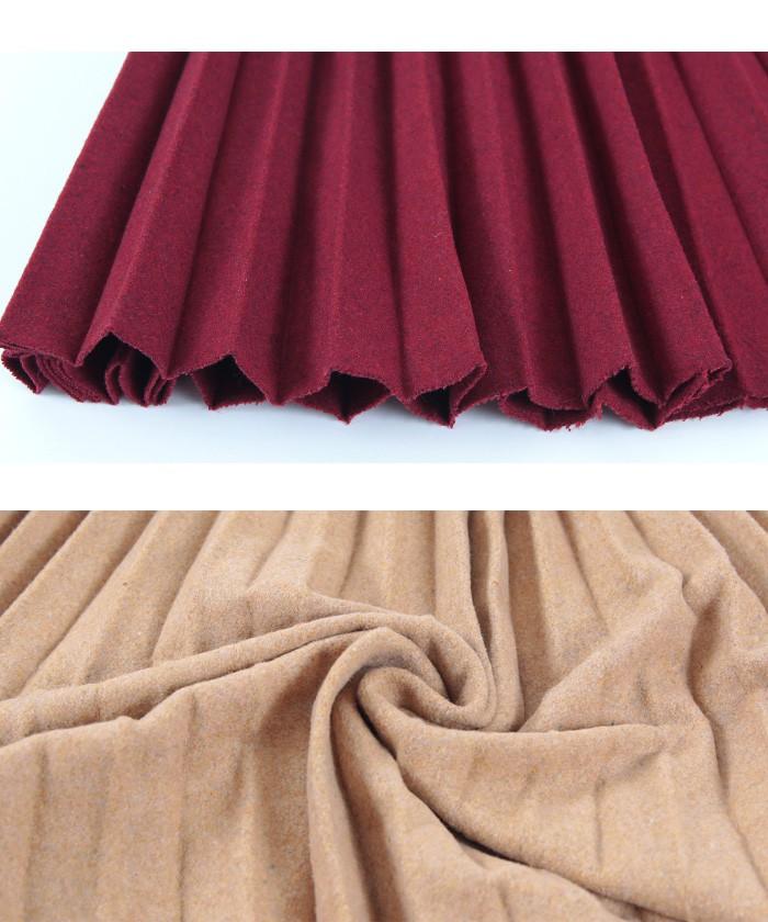 2トーンカラープリーツスカート16