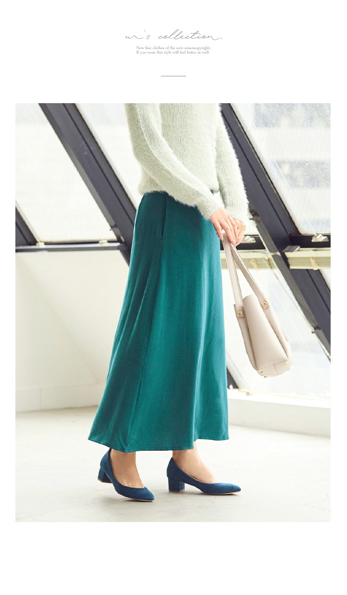 Aラインロングスカート11