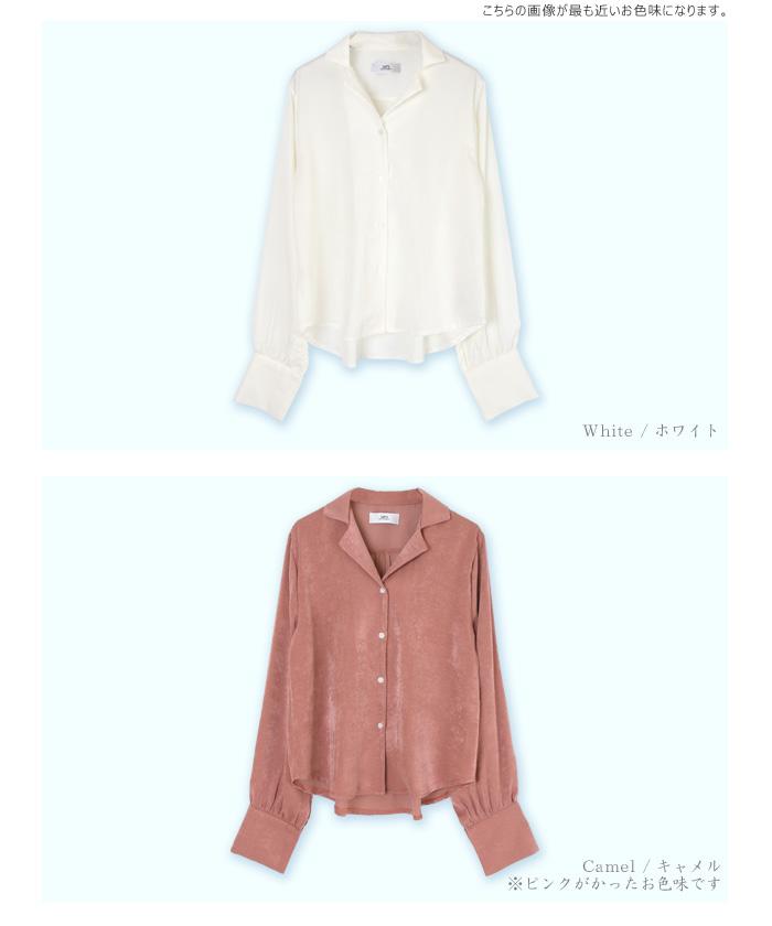 サテンライクシャツ12