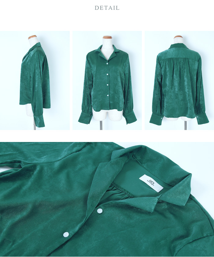サテンライクシャツ14