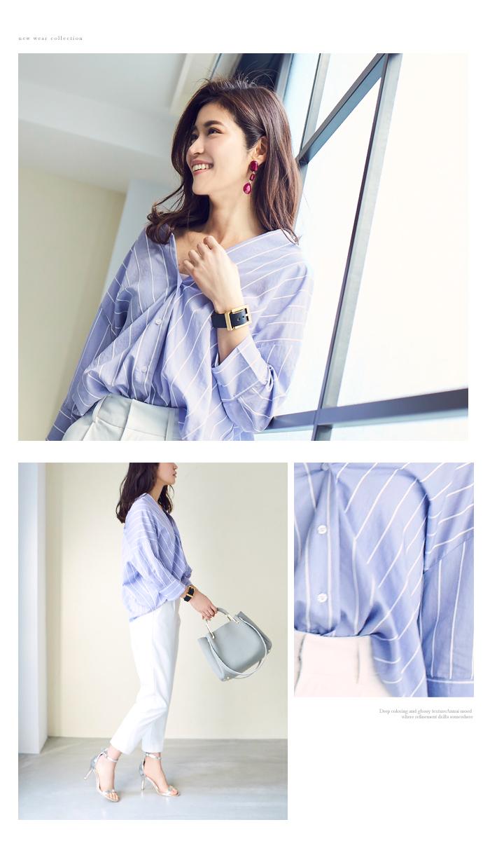 バックタック抜け衿オーバーシャツ6
