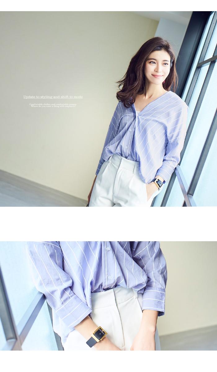 バックタック抜け衿オーバーシャツ11