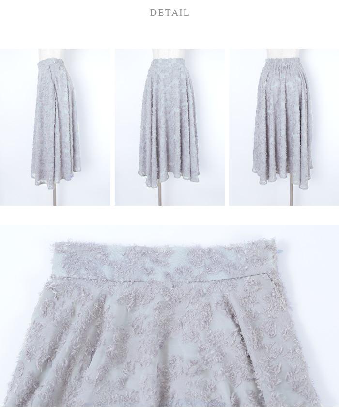 シフォン花柄フレアスカート14
