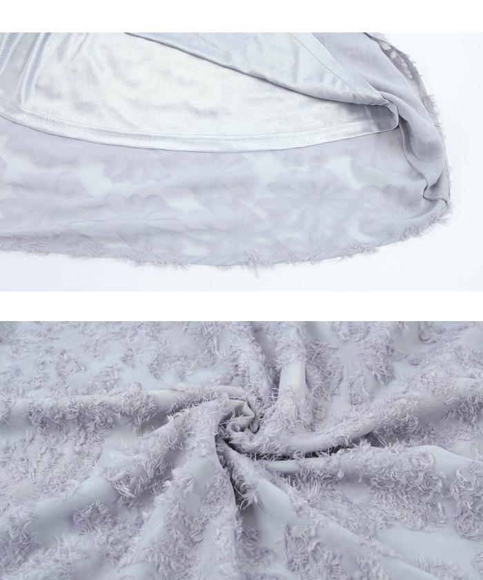 シフォン花柄フレアスカート16