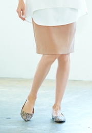 ポケット付ミディアムタイトスカート