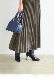ロングプリーツマキシスカート