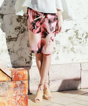フローラルスカート